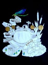 Grenouille - dorure sur papier